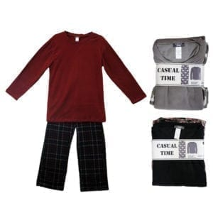 Wholesale Men's/Unisex Micro Polar Fleece Pajama Set (Sizes S-XL)