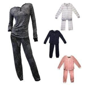Wholesale Ladies' 2-Piece Knit/Flannel Pajama Set (Size S-XL)
