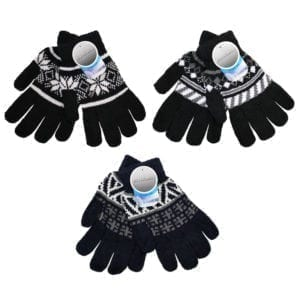 Wholesale Adult Patterned Knit Gloves