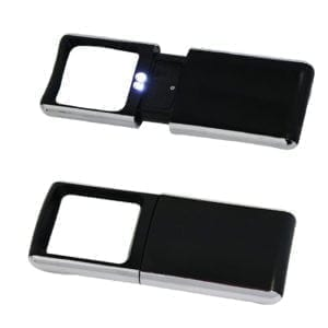 Wholesale Black and Silver Magnifier with 2 LEDs