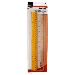 Wholesale 2-Pack Wood and Clear Rulers