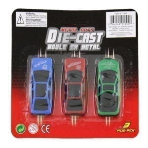 Wholesale Die-Cast Toy Cars (3-Pack)