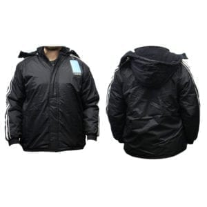 Wholesale Men's Black Winter Jacket With Stripes (Sizes S - 2XL)