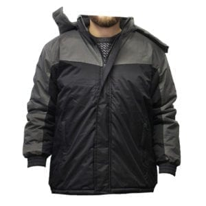 Wholesale Men's Black and Grey Winter Jacket (Sizes S - 2XL)