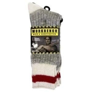 Wholesale Men's Grey Wool Work Socks 3-Pack (Size 10-13)