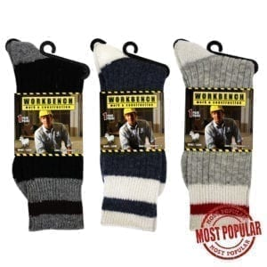Wholesale Men's Wool Work Socks (Size 10 - 13)