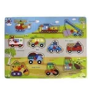 Wholesale Wooden Car Puzzle Set (11 Pieces)