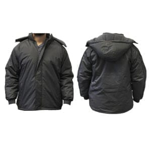 Wholesale Men's Dark Grey Winter Jacket With Stripes (Sizes S - 2XL)