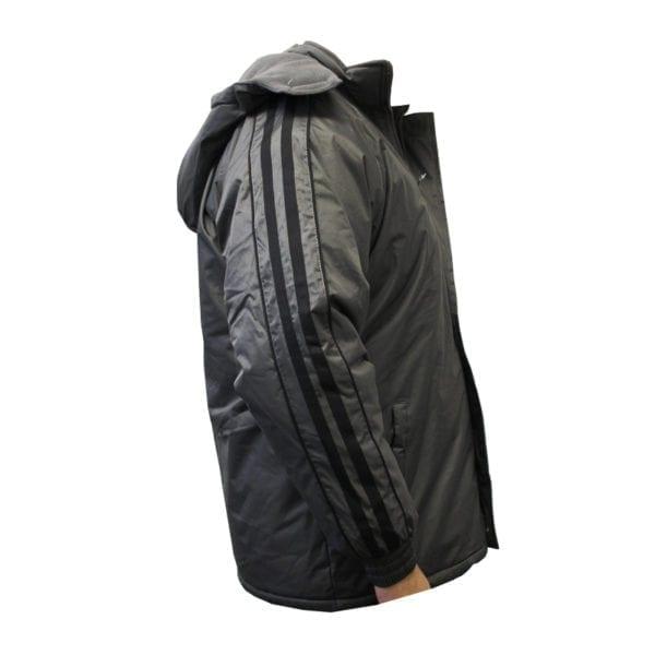 Wholesale Men's Dark Grey Winter Jacket With Stripes (Sizes S - 2XL)
