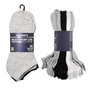 Wholesale Ladies Low Cut Socks - 10 Pack