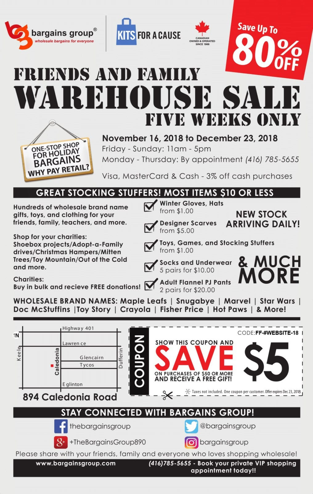 Friends and Family Warehouse Sale in Toronto from Outlet Store ...