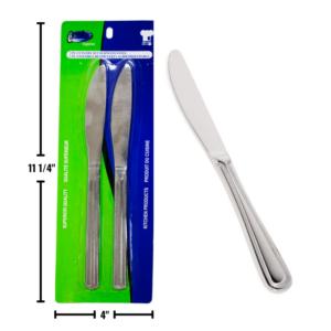 Wholesale Stainless Steel 2-Pack Dinner Knife