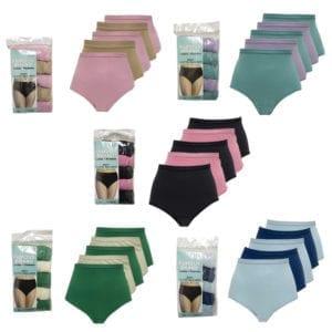 a903a7007 Wholesale 5-Pack Ladies Solid Briefs (Size M-XL)
