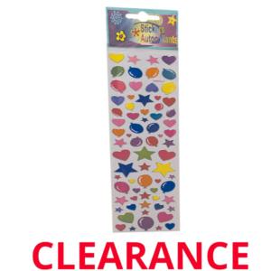Wholesale Stickers - HeartBalloonStars