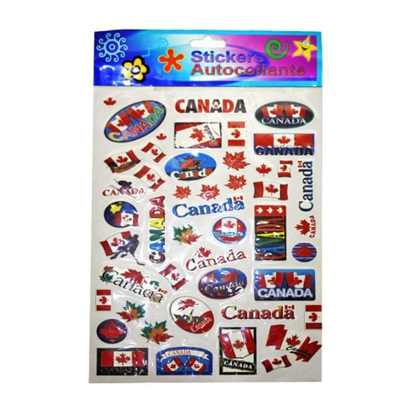 Wholesale Multi-Pack Canada Flag Stickers (Large)