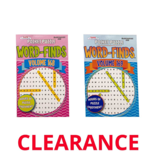 Wholesale Large Print Word Search Pocket Size Activity Books