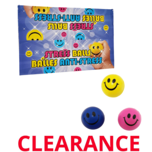 """Wholesale Happy Face Squeeze/Stress Ball, 2.5"""""""