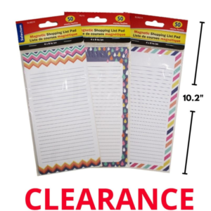 """Wholesale Magnetic Shopping List/ Notepad, 3 Style (Size: 4"""" x 8"""")"""