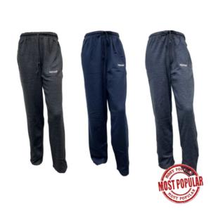 Wholesale Adult Fleece Track Pants - 3 Assorted Colours