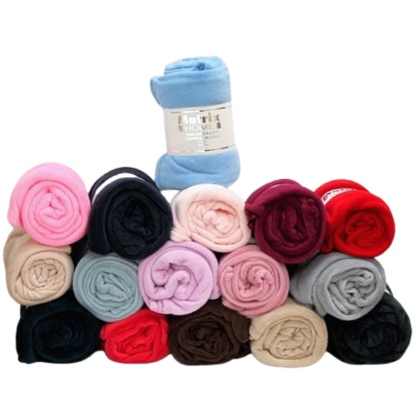 WHOLESALE CORAL FLEECE THROW BLANKET 60X60 SOLID COLOURS 1