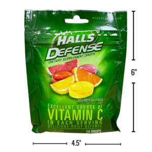 Wholesale Halls Cough Drops In Resealable Bag