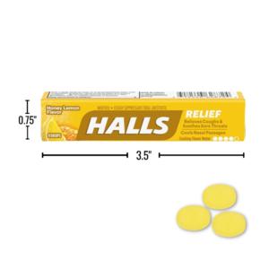 Wholesale Halls Honey Lemon Cough Drops, 9-Pack