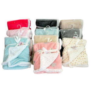 wholesale kids mink and sherpa - assorted foil print