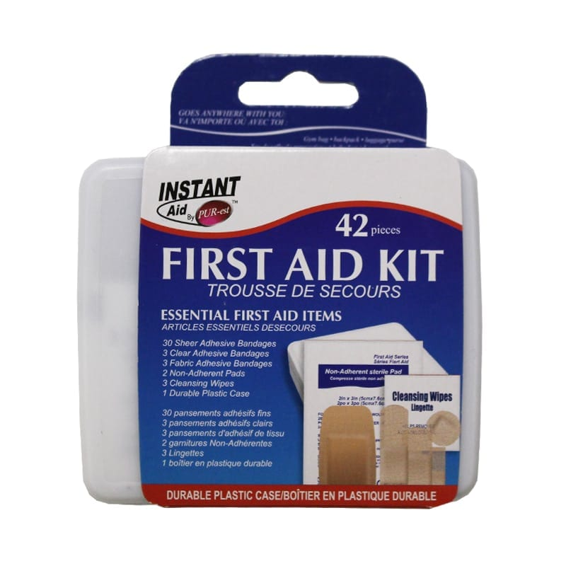 Wholesale Brand Name Instant Aid 42 Piece First Aid Kit   Bargains Group